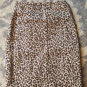 J.Crew No.2 leopard pencil skirt